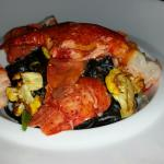 Porched Lobster/Roasted Cauliflower/Squid Ink Linquine