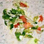 gerecht met groentjes en humus