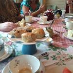 Scones and tea at Talking Teacup