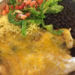 Chicken Enchiladas with Black Beans & Rice