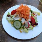 Excellent salad with fresh local vegetables.