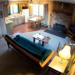 2 Bedroom Cabin living area and kitchen