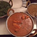 Saag Paneer, Chicken Rogan Josh and Lentil Dal