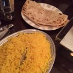 Saffron Rice and Naan