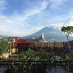 View from the rooftop terrace...