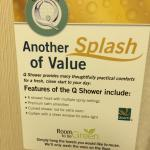 The Splash of Value....where.  See the Curved Shower Curtain Rod Mounted