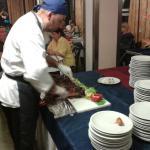 Ottimo arrosto di maiale della cena romagnola
