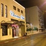 Christmas Hotel exterior, street view