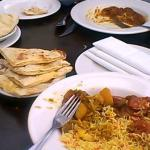 Sunday buffet and freshly prepared naan bread