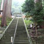 東照宮へと昇る石段