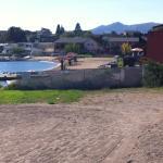 the lake shore and beach