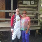 Docents in period costumes