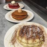 Cinnamon bun pancakes! Pumpkin pancakes!  Red velvet pancakes!
