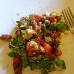 Strawberry gorgonzola pecan salad!  YUMMY!