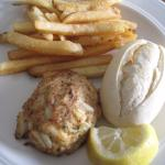 Crab cakes and fries