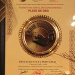 Premio Gastronomico plato de oro 2015