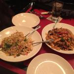 Thai red chili noodles and kung pao stir fry