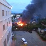 fire in Quality hotel Gorontalo
