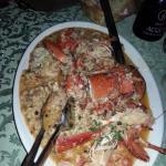 Hummer/Fisch/Pasta Gericht