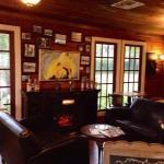 Cozy lounge inside