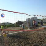 Волейбольная площадка, переодевалка и пр. (на пляже)