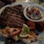 Some of the best shrimp and the best rib eye that I have had!