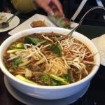 Yummy spicy lemongrass beef soup