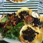 Eggs benny, taco special and menu selections Magpies  , Powell River, BC