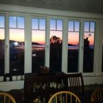Gorgeous sunrise from dining area.