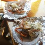 blue crab on plate delicious