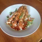 Shanghai BBQ Chicken skewers with Asian Slaw