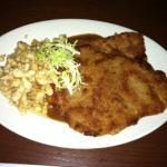 kaiser schnitzel with spaetzel