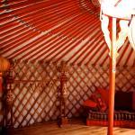 interieur van de Oriëntaalse yurt