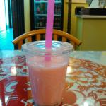 Strawberry bubble tea at Le's Vietnamese, Ames