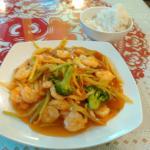 Garlic shrimp at Le's Vietnamese, Ames