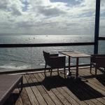 Photos prises de la chambre 12 avec terrasse sur la mer