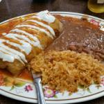 Wet burrito with rice and beans