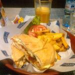 Disfrutando de la buena comida....