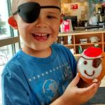 Ahoy mate - me be a pirate eating donut