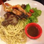 Steak and prawn
