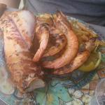 Mixte grille calamar gambas