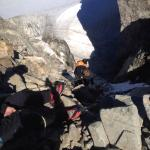 Taking a helicopter up to Rainbow Mountain followed by a 3 hour hike on ice with crampons attach