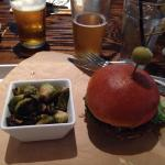 Burger with Brussel Sprouts-yum Shrimp Po'Boy- wow