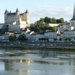 view across the Loire to the Chateau du Beaulieu