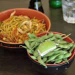 edamame and noodlesmeat