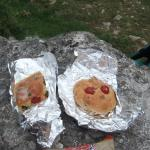 Cakes carried out for eating on the walk.