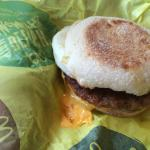 Second tossed (almost together) Sausage McMuffin