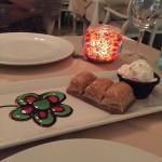 Tasty baklava at Boterra restaurant