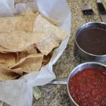 Chips, Salsa & Black Beans