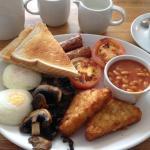 Vegetarian breakfast - extra hash brown.